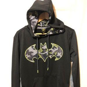 DC Comics Batman Mens Charcoal/Black Hoodie S